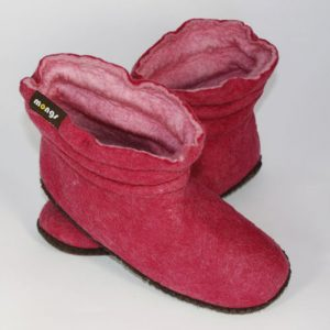 Damenhausschuh Filz pink