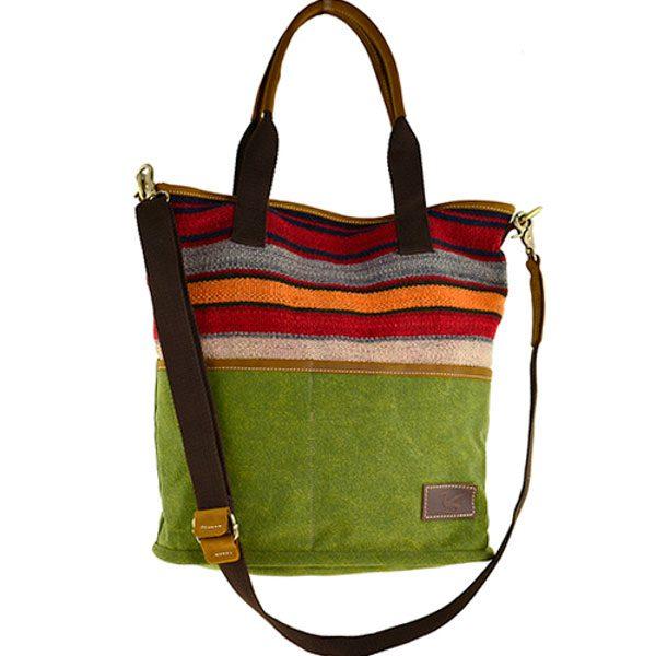 Handtasche grün mit persischem Kelim