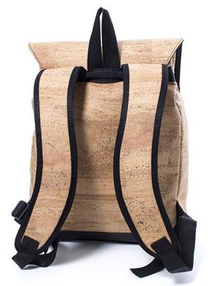 Rucksack Kork natur von hinten