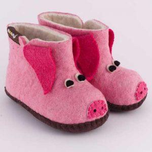 Kinderhausschuh Schweinchen