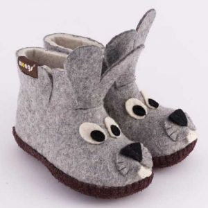 Filzhausschuh Hase für Kinder