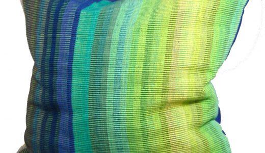 kissenbezug karen webstoff azurblau