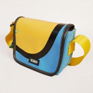 recycling tasche blaugelb