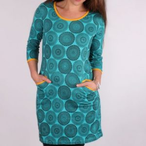 Kleid punkto aus Biobaumwolle