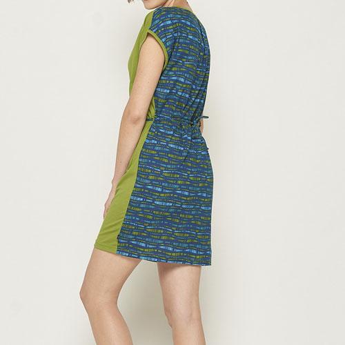 Minikleid grünblau hinten